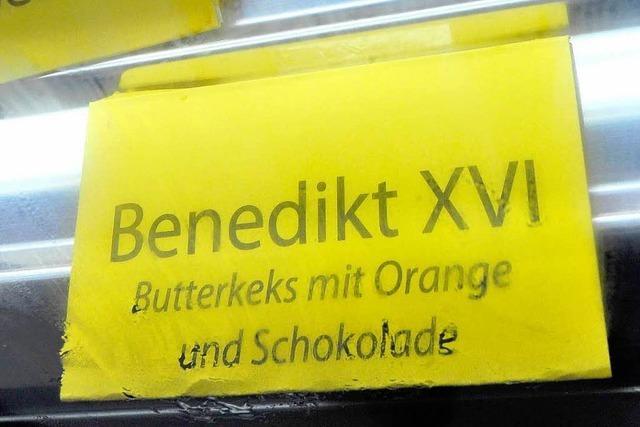 Benedikt XVI. gibt's in Freiburg auch als Eissorte