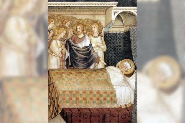 Ein Heiligenschein auf einem Kissen