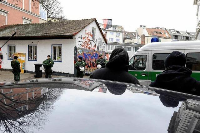Besetztes Häuschen in der Gartenstraße wird zur Tabuzone