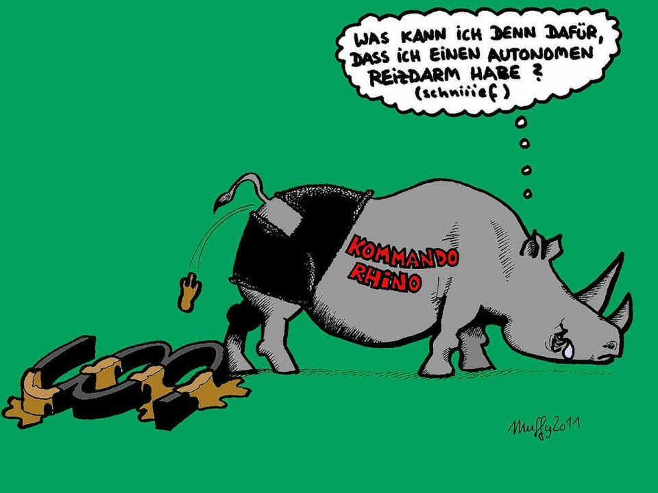 So sah unser Karikaturist Thomas Muffler die Lage.  | Foto: Thomas Muffler