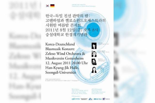 Musikverein Gottenheim auf Konzertreise in Südkorea