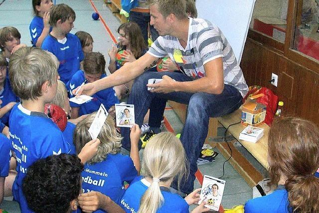 Handball-Star zu Besuch