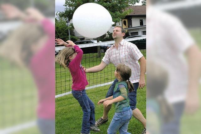 Luftballon-Kids obenauf