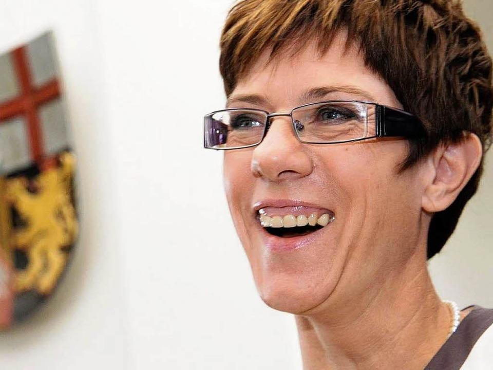 Annegret Kramp-Karrenbauer ist neue Ministerpräsidentin des Saarlands.    Foto: dpa