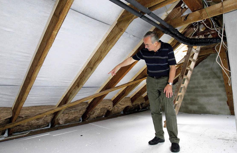 schnell noch dämmung unters dach - haus & garten - badische zeitung