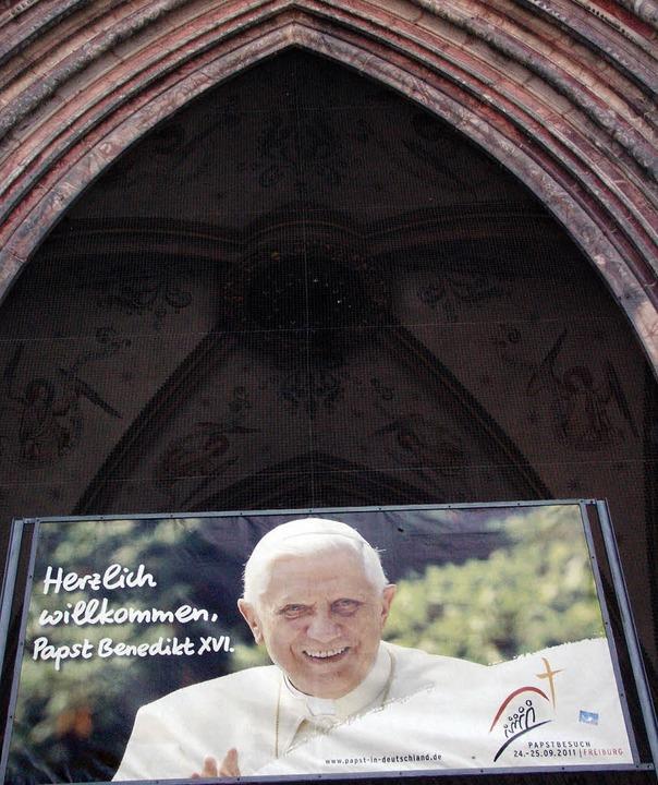 Wird am 24. September in Freiburg erwartet: Papst Benedikt   | Foto: F.Kiefer