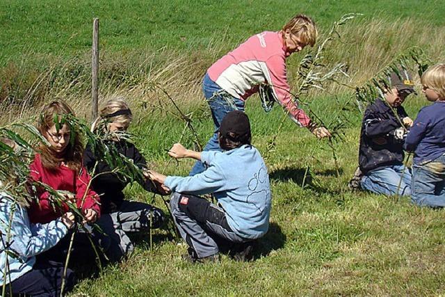 Kinder beschäftigen sich mit der Natur