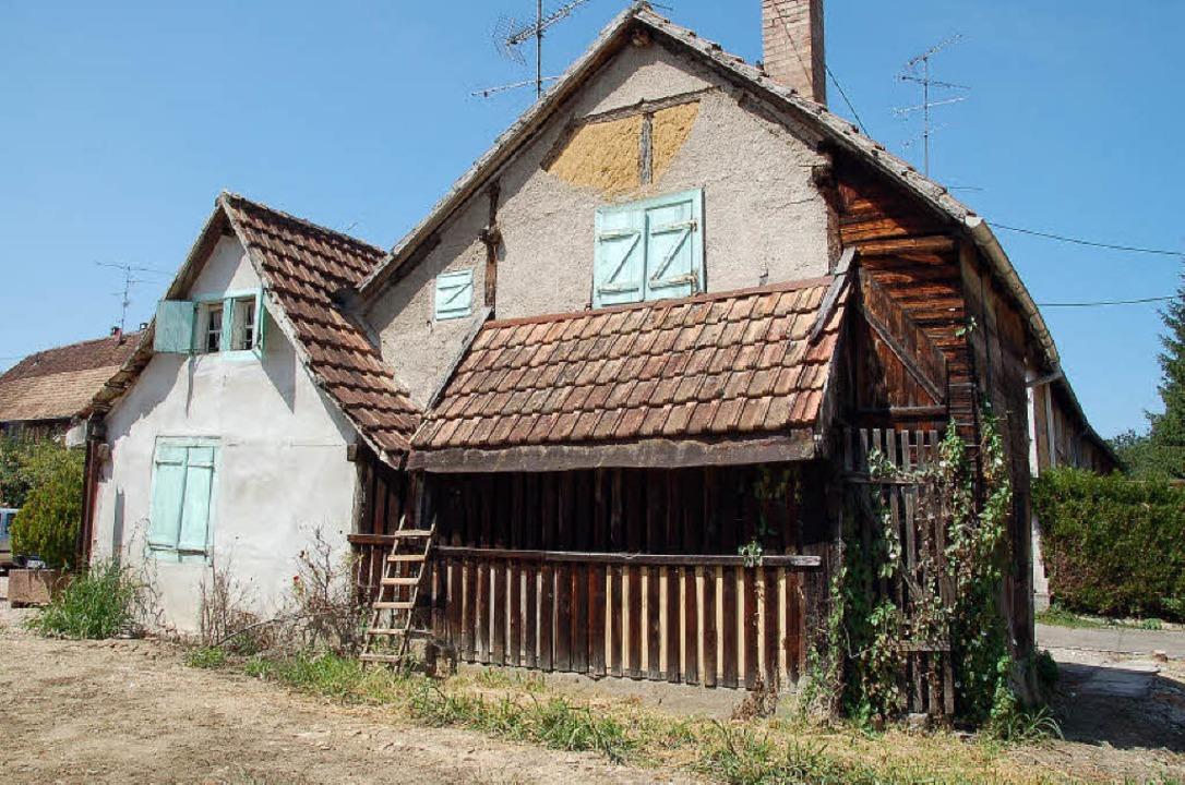 Das leere Häuschen im Dorfkern soll zum  Museum werden.   | Foto: Annette Mahro