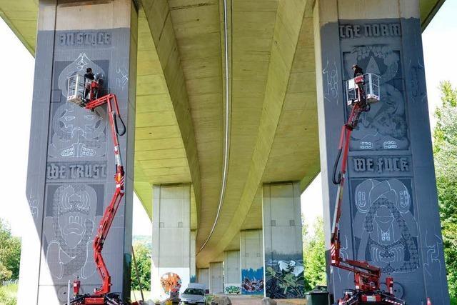 Graffiti an Brückenpfeilern: Bridge Gallery wird zur Attraktion
