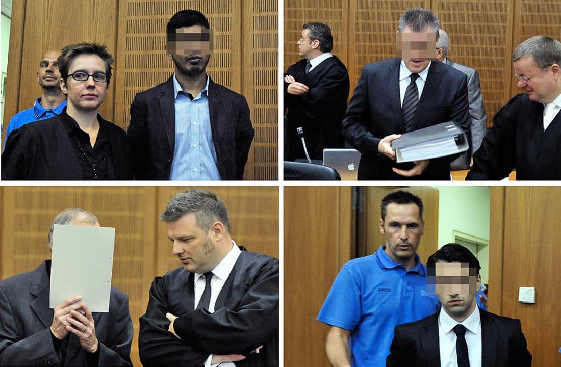 Großer Auftrieb vor dem Frankfurter Landgericht  | Foto: dpa