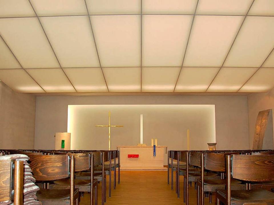 Sakraler Saal mit besonderer Lichtwirkung in Heitersheim  | Foto: Andrea Drescher