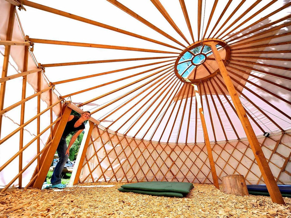 Papstpilger können auf dem Campingplat...slepark auch in einer Jurte schlafen.   | Foto: Thomas Kunz