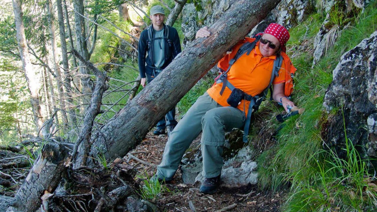 Über Stock und Stein und manchmal auch... und Rainer Haas auf dem Alpinen Pfad.  | Foto: http://www.rainerundclaudia.de/