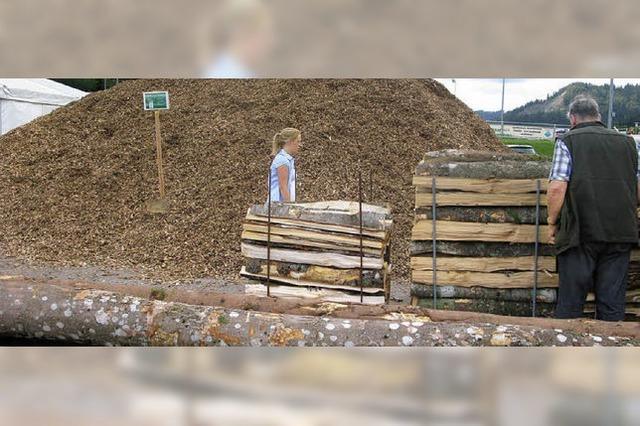Das Holz geht in Bernau nicht so schnell aus