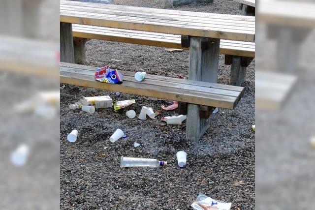Viel Müll – aber nicht im Abfallbehälter