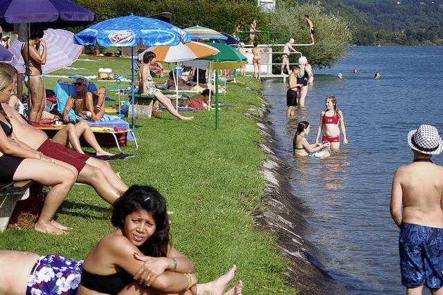 Schwörstädter Rheinbad: Die meisten Gäste zieht's zum Rhein