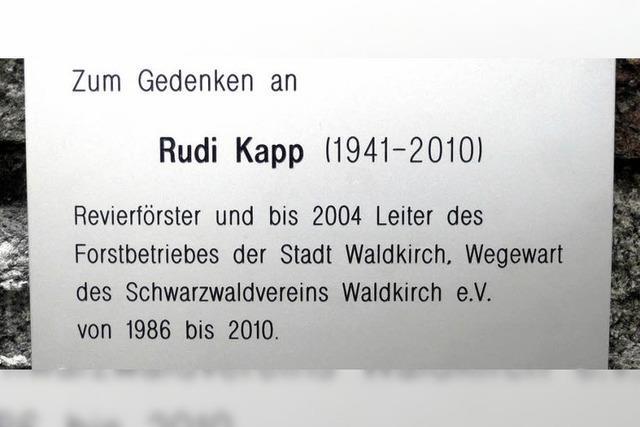 Gedenken an Rudi Kapp