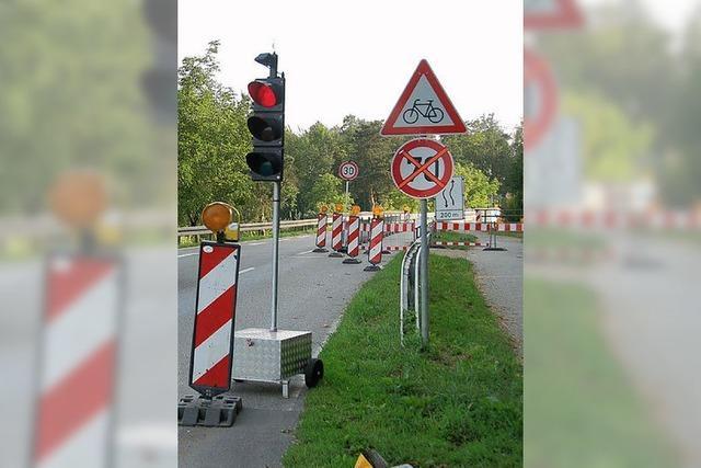 Der Radwegstreifen wird von Grund auf saniert