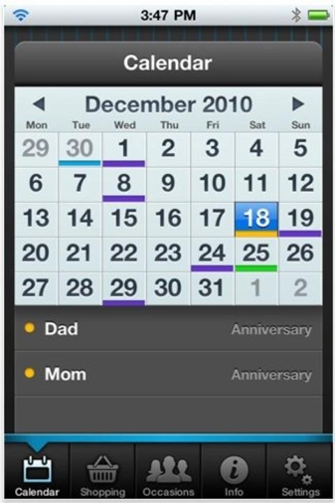 Gift Plan - Kalender