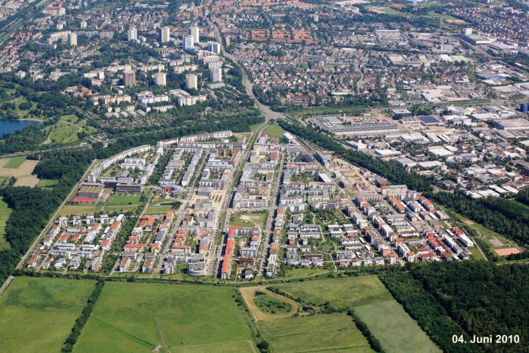 Das Rieselfeld von oben  | Foto: Stadtplanungsamt