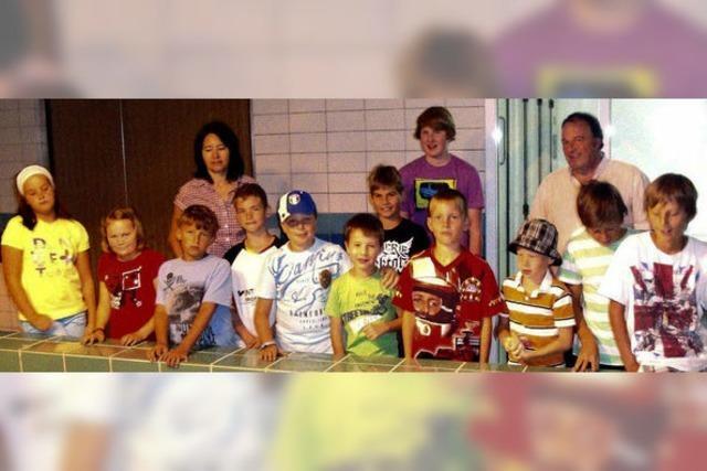 Kinder erfuhren, wie sauberes Wasser aus dem Wasserhahn kommt