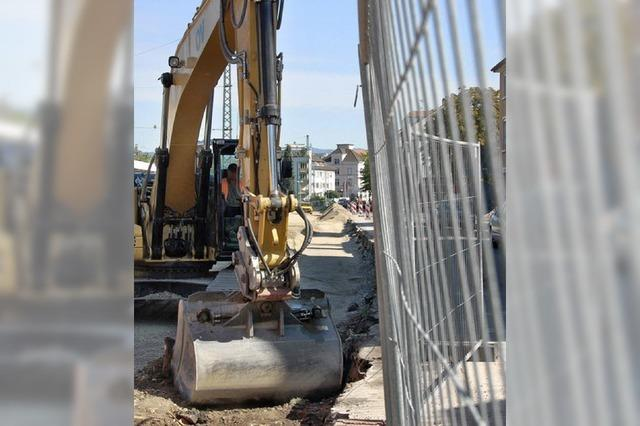 Baustraße wird nächste Woche asphaltiert