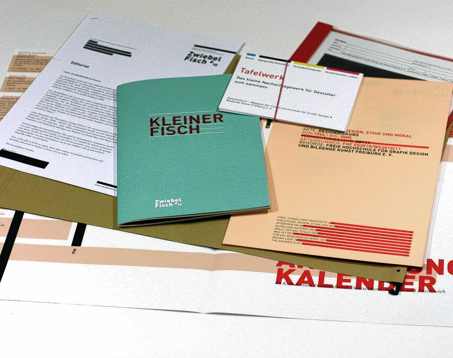Zwiebelfisch, Designpreis red dot für das Magazin der Kunsthochschule Freiburg  | Foto: privat