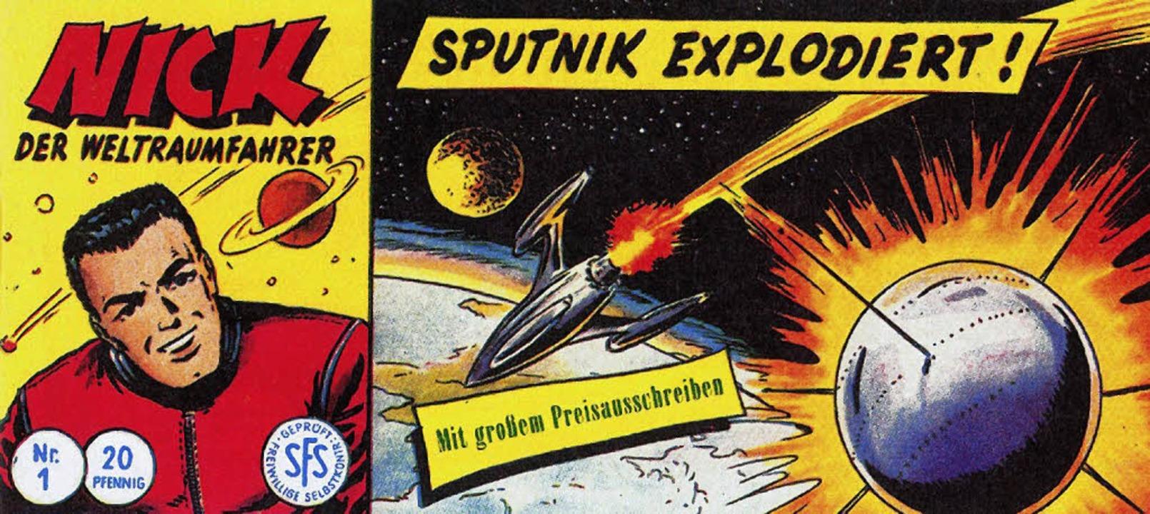 Seiner Zeit um Lichtjahre voraus: Nick... Captain Kirk noch nicht geboren war.   | Foto: repros: verlag (4)