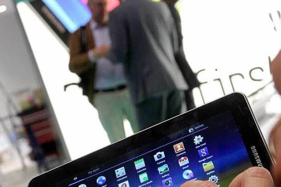 Der neue Tablet-Computer Galaxy Tab 7.7 von Samsung. (Foto: dpa)