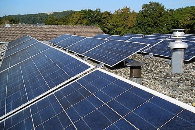 Tafel löst Darlehen ab für Fotovoltaikanlage