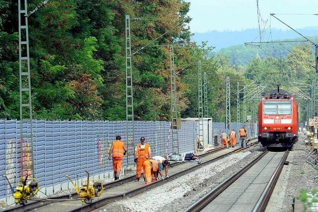 Bahn-Baustelle: Nebelhorn nervt Anwohner