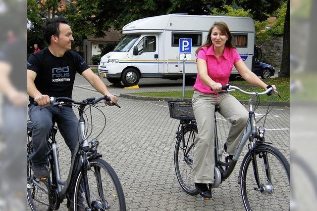 Mit E-Bike geht's bergauf