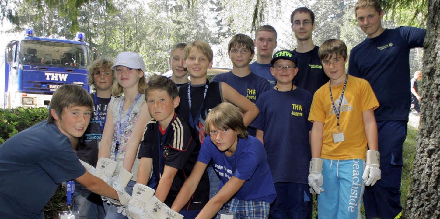 LaKiSo-Kinder durften beim THW Ortsverband Laufenburg mit anpacken.      Foto: Charlotte Fröse