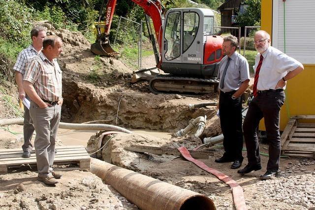 Vorfahrt für neue Wasserleitungen
