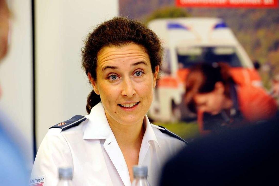 Sophie Henckel von Donnersmarck leitet...Einsatz der Malteser beim Papstbesuch.  | Foto: Ingo Schneider