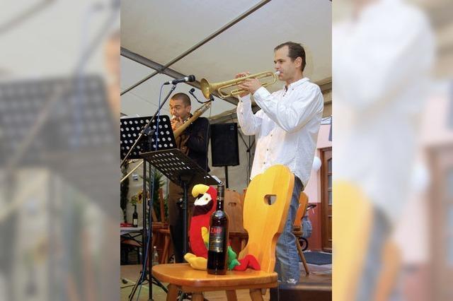 Zeltmusik als Jubiläumspräsent