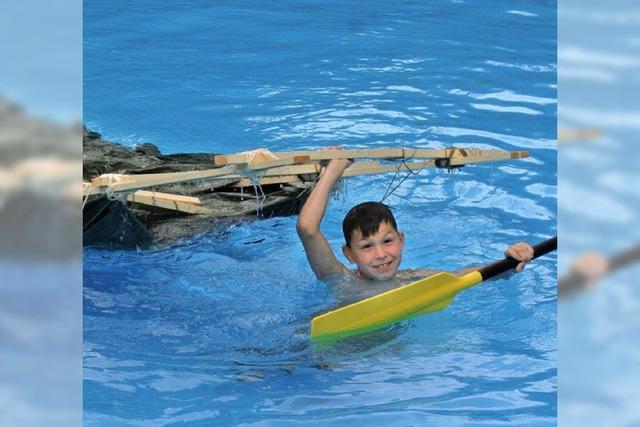 Kinder gehen eine ganze Woche unter Wasser