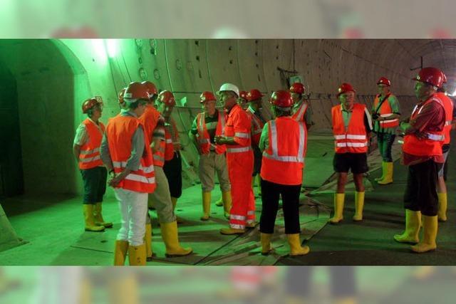 12. 12. 12 geht der Tunnel in Betrieb