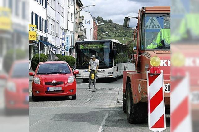 Vollsperrung der Hauptstraße