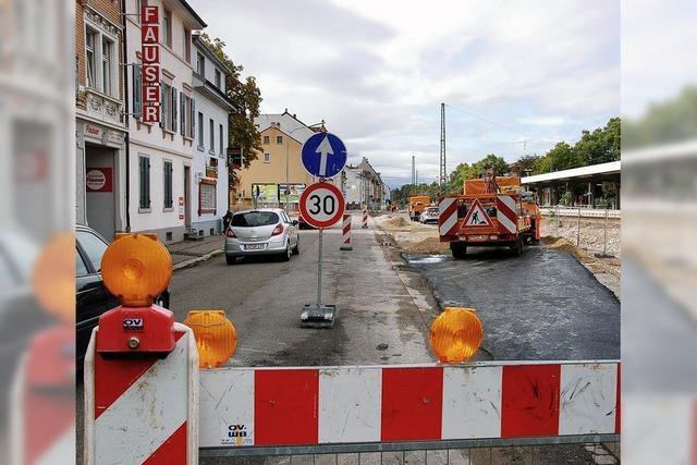 Baustraße vor Inbetriebnahme