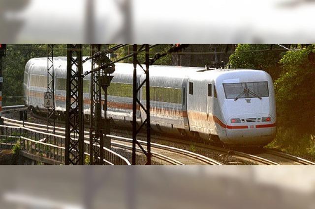 Rheintalbahn: Fernzüge fahren später
