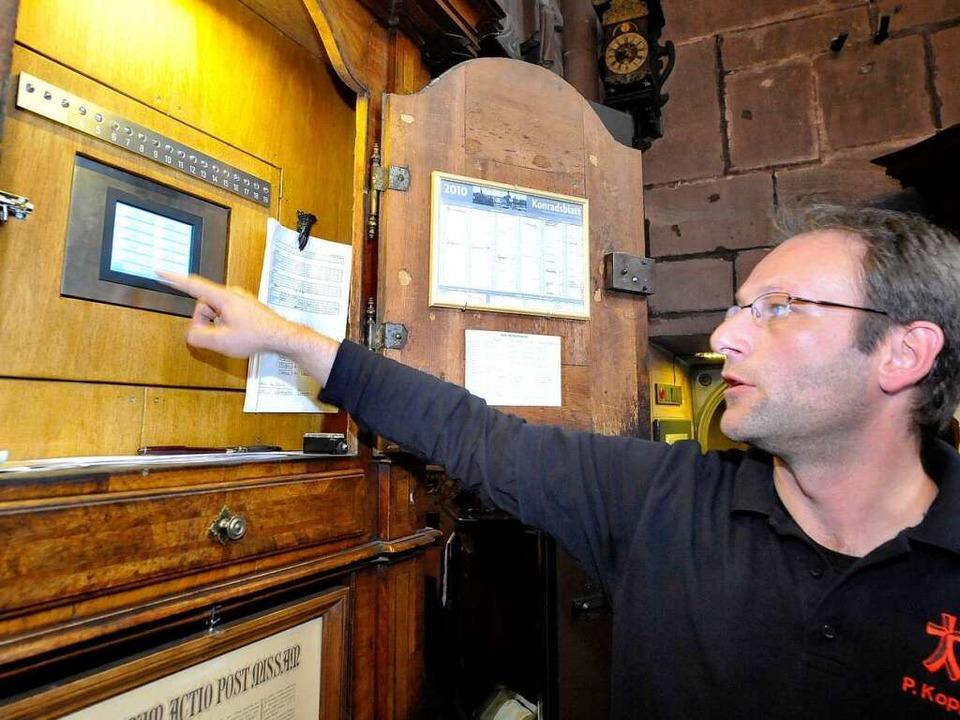 Hightech im alten Gemäuer: Die Glocken...sterturm läuten mit Computersteuerung.  | Foto: Michael Bamberger