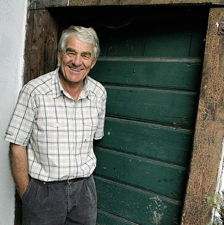 Altbürgermeister Eugen Isaak wuchs im Hirschen auf.  | Foto: Michael Saurer
