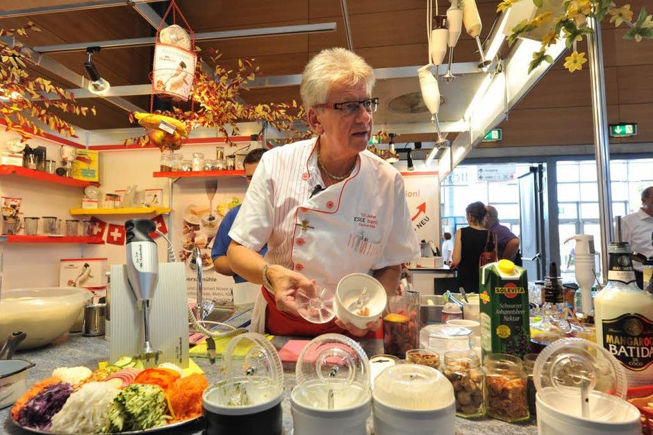 Insgesamt 550 Aussteller präsentieren ihre Produkte und Dienstleistungen auf der Badenmesse, der größten Freiburger Verkaufsschau. (Foto: Rita Eggstein)