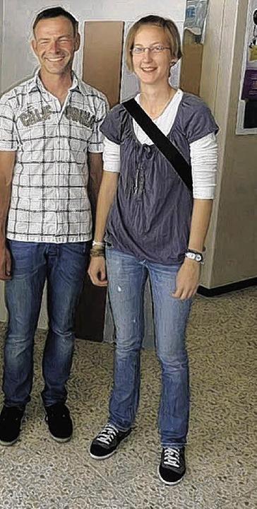 Die Innungsbeste Julia Zimmermann mit ihrem Lehrmeister Michael Rimmele.   | Foto: PRIVAT