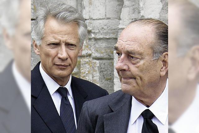 Korruptionsvorwürfe gegen Chirac und Geld für de Villepin