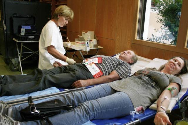 Frisches Blut wird schnell verfügbar