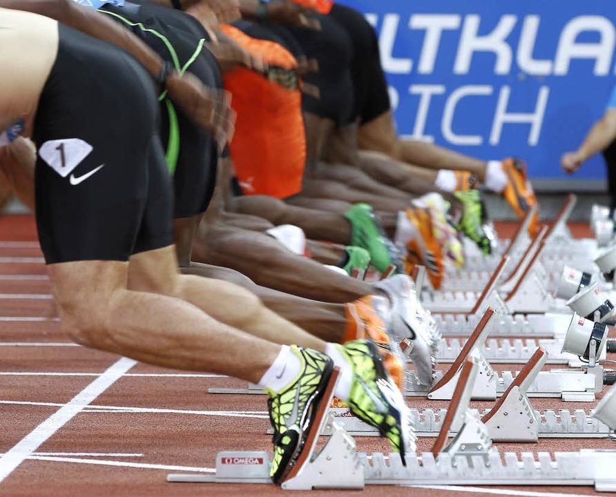 Auf die Platze, fertig,  los: Aber wie viele dieser  Sprinter dopen?   | Foto: dpa