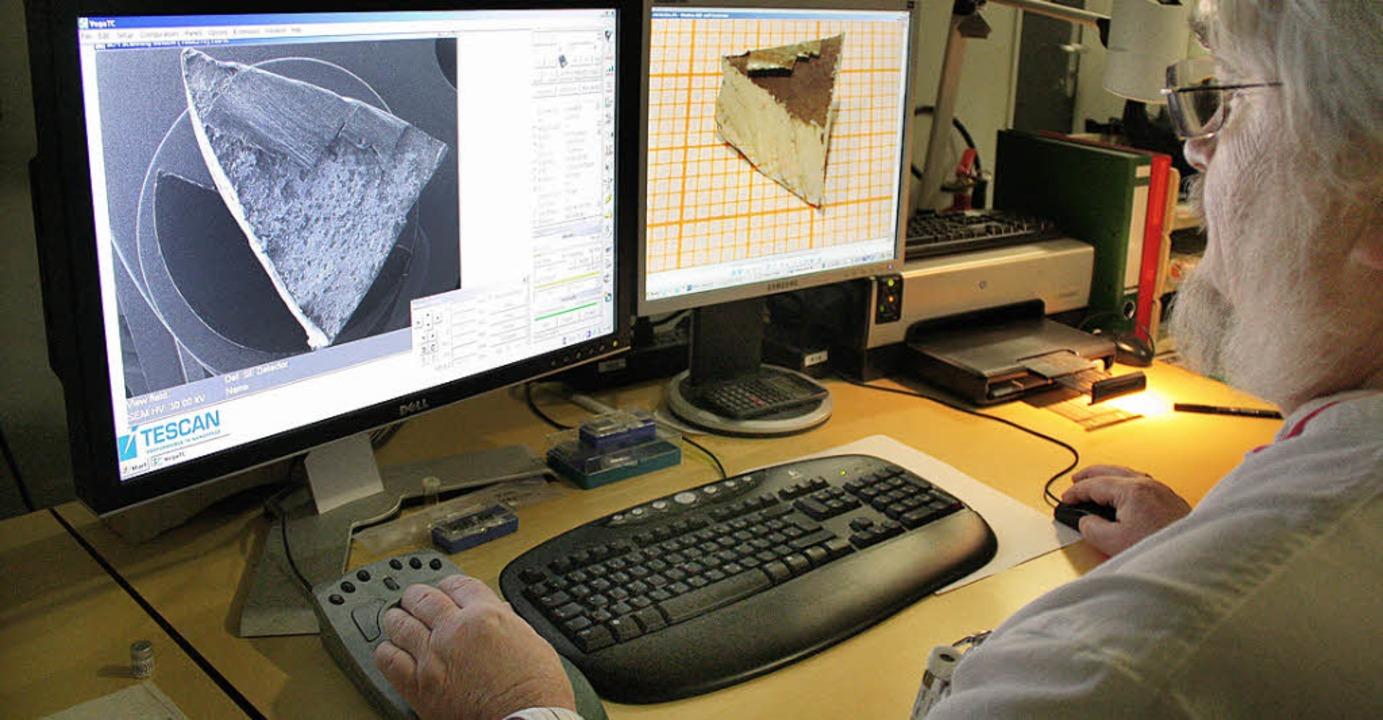 Auswertung einer Forschungsarbeit am Bildschirm  | Foto: Foto: Meinrad Heck