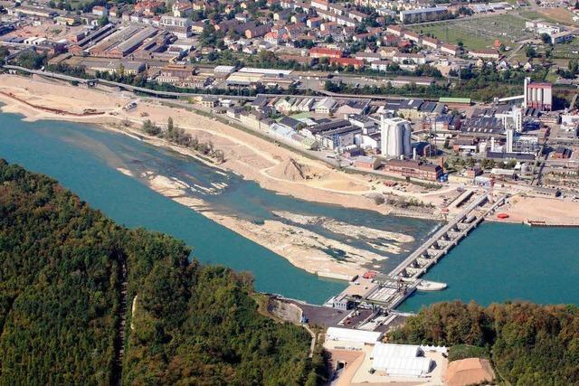 Das Wasserkraftwerk Rheinfelden steht vor der Einweihung